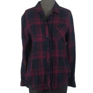 Rails Plaid Flannel ButtonUp Size Small Red Black